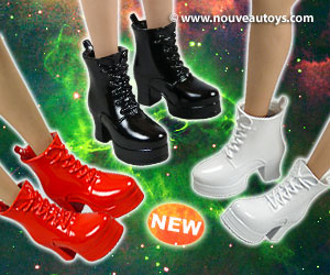1/6 Scale ZY Female Glossy Motorcycle Heel Boots Banner