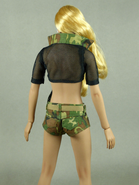 Fire Girl Toys 1/6 Scale Female Sexy Military Camouflage Set #3 (Black Version)