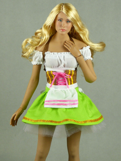 Flirty Girl 1/6 Scale Oktoberfest Beer Maid Uniform Set (Green)