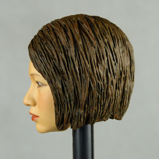 Kumik 1/6 Scale Female Head Sculpt Min Jun With Sculpted Hairpiece - K004A 3