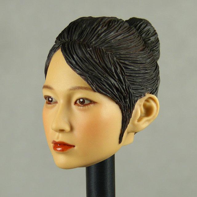 Kumik 1/6 Scale Female Head Sculpt Min Jun With Sculpted Hairpiece - K004B 2