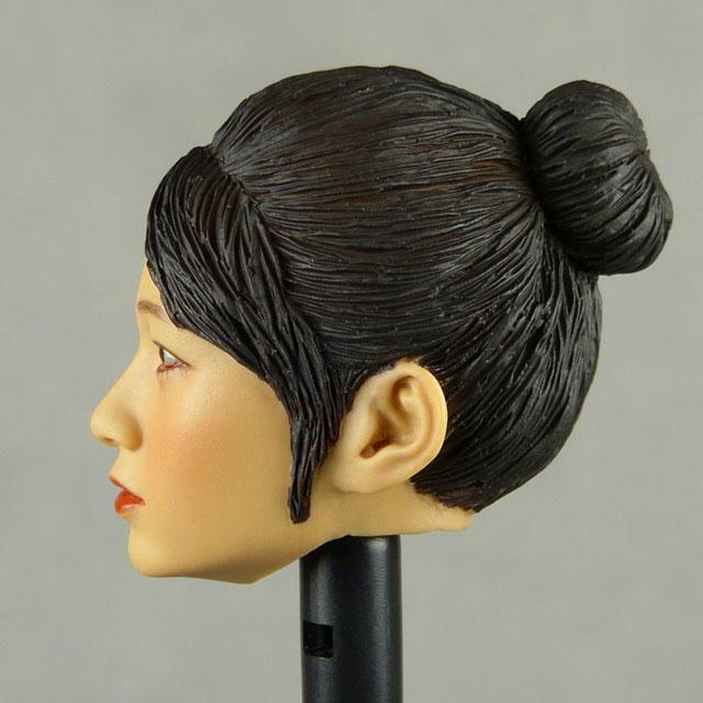 Kumik 1/6 Scale Female Head Sculpt Min Jun With Sculpted Hairpiece - K004B 3
