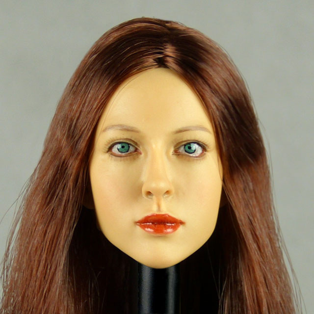 Kumik 1/6 Scale Female Head Sculpt Amanda With Hairpiece - K040 1