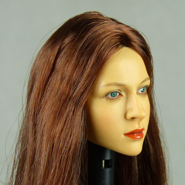 Kumik 1/6 Scale Female Head Sculpt Amanda With Hairpiece - K040 2