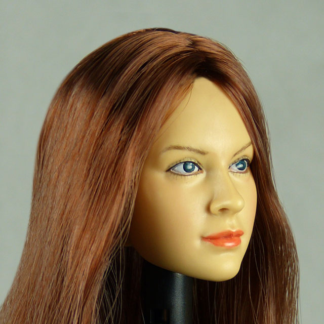 Kumik 1/6 Scale Female Head Sculpt Chloe With Hairpiece - K059 2