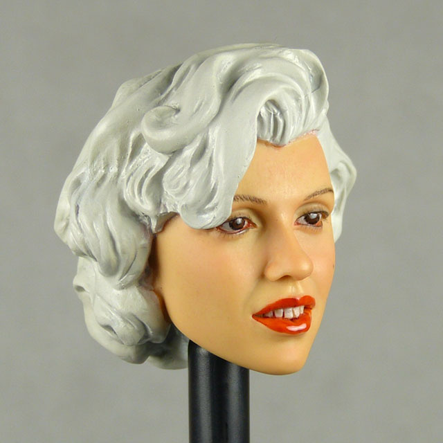 Kumik 1/6 Scale Female Head Sculpt Carole With Hairpiece - K062 2