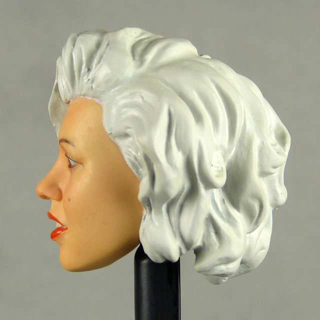 Kumik 1/6 Scale Female Head Sculpt Carole With Hairpiece - K062 3