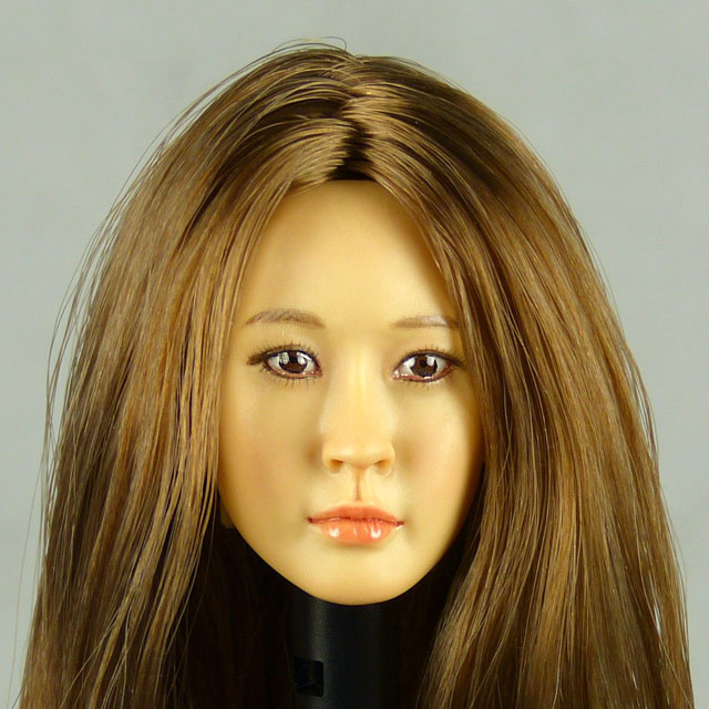 Kumik 1/6 Scale Female Head Sculpt J.H. With Hairpiece - K083 1