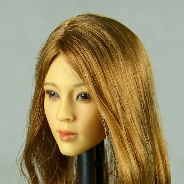 Kumik 1/6 Scale Female Head Sculpt Phoebe With Hairpiece - K098 2