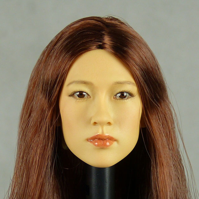 Kumik 1/6 Scale Female Head Sculpt Fumiko With Hairpiece - K103 1