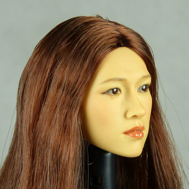 Kumik 1/6 Scale Female Head Sculpt Fumiko With Hairpiece - K103 3