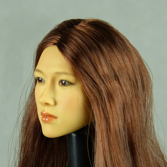 Kumik 1/6 Scale Female Head Sculpt Fumiko With Hairpiece - K103 2