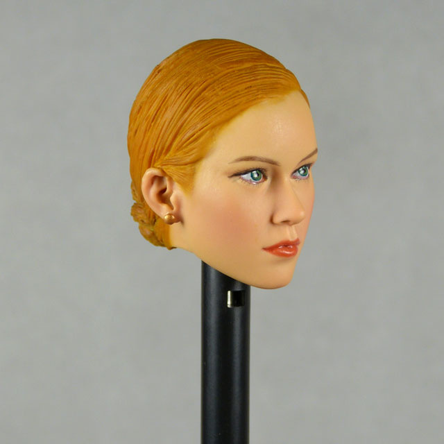 Kumik 1/6 Scale Female Head Sculpt Kristy With Orange Sculpted Hair - NT006 Image 3