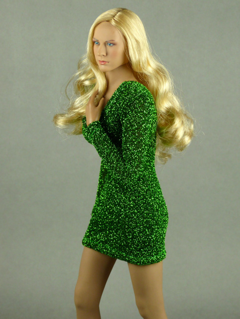 Nouveau Toys 1/6 Scale Female Green Glitter Mini Party Dress