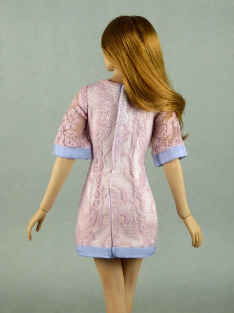 Nouveau Toys Fashion Series - 1/6 Scale Female Sexy Light Pink Lace Dress