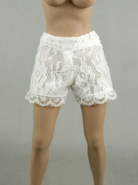 a638fed2c1 Nouveau Toys 1 6 Scale Female White Lace Short Pants
