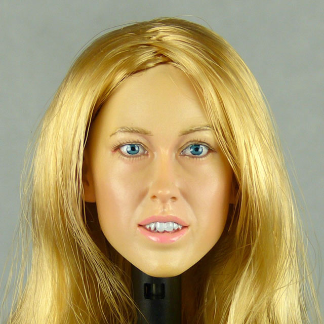 Kumik 1/6 Scale Female Head Sculpt Phoebe With Hairpiece - K098 1