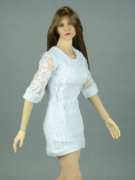 1/6 Scale Female White Lace Dress