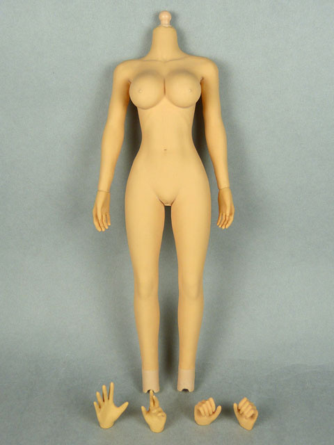 1/6 Phicen Female Seamless Base Body with Plastic Internal Skeleton (Tan Skin Large Bust) 1