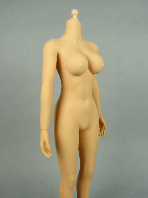 1/6 Phicen Female Seamless Base Body with Plastic Internal Skeleton (Tan Skin Large Bust) 2