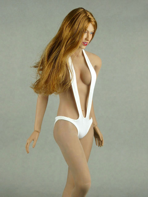 Phicen 1/6 Scale Female Sexy White Neck Strap Bikini Image 1
