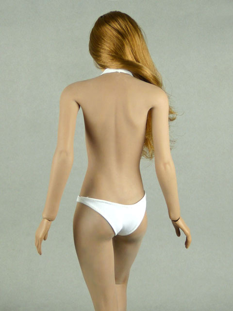 Phicen 1/6 Scale Female Sexy White Neck Strap Bikini Image 3