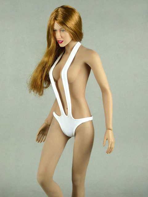 Phicen 1/6 Scale Female Sexy White Neck Strap Bikini Image 2