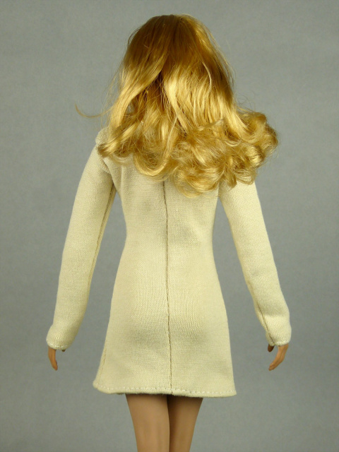 Vogue 1/6 Scale Female High Fashion Beige Turtle Neck Dress 3