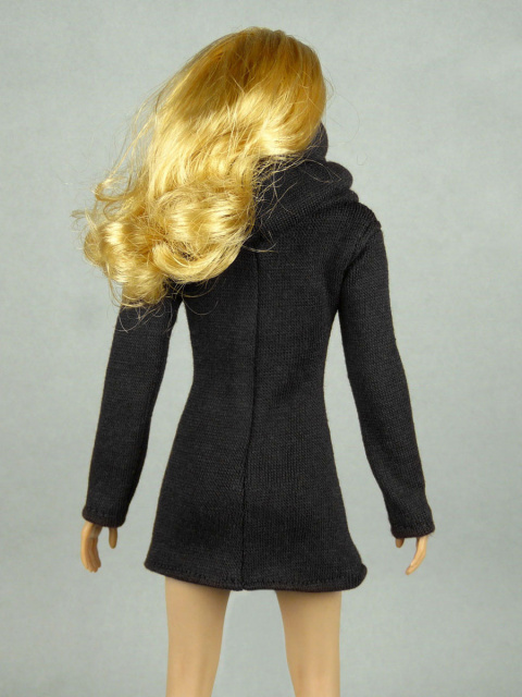 Vogue 1/6 Scale Female High Fashion Black Turtle Neck Dress 3