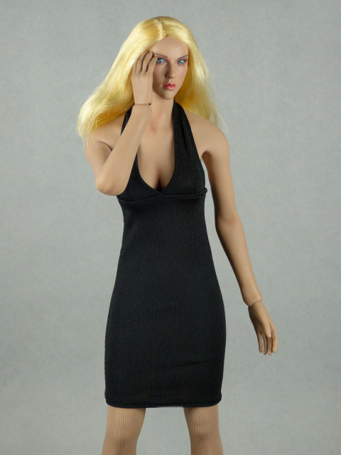 Vogue 1/6 Scale Female Black Neckstrap Fashion Dress