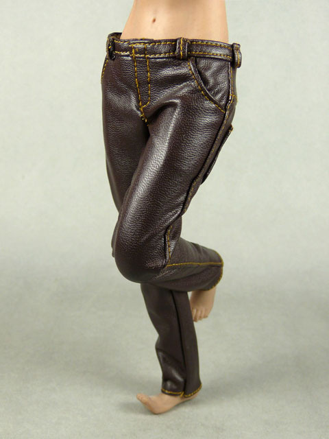 Vogue 1 6 Scale Female Brown Slim Fit Leather Pants