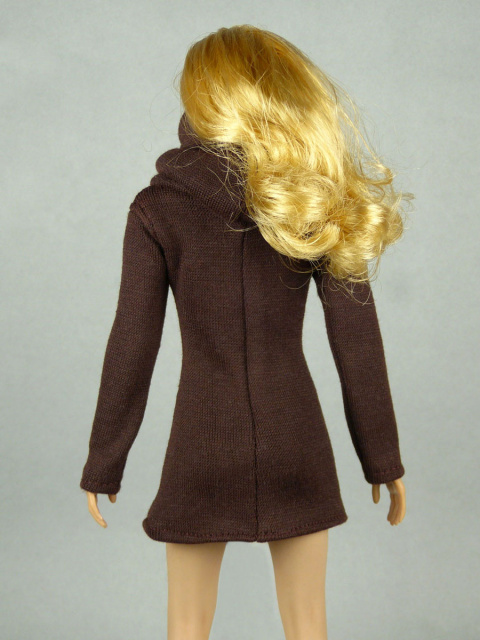 Vogue 1/6 Scale Female High Fashion Brown Turtle Neck Dress 3