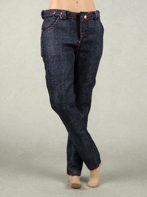 Vogue 1/6 Scale Female Navy Slim Fit Denim Jean Pants Image 2