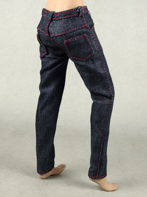 Vogue 1/6 Scale Female Navy Slim Fit Denim Jean Pants Image 3