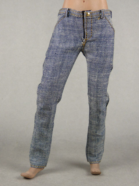 Vogue 1/6 Scale Female Gray Slim Fit Denim Jean Pants Image 1