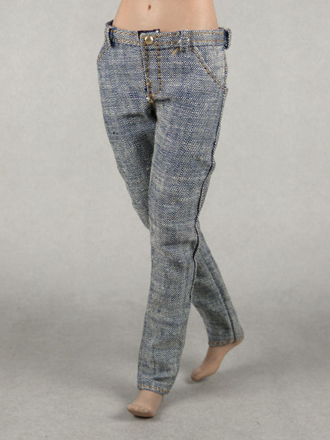 Vogue 1/6 Scale Female Gray Slim Fit Denim Jean Pants Image 2