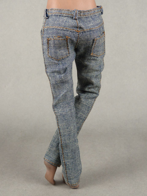 Vogue 1/6 Scale Female Gray Slim Fit Denim Jean Pants Image 3