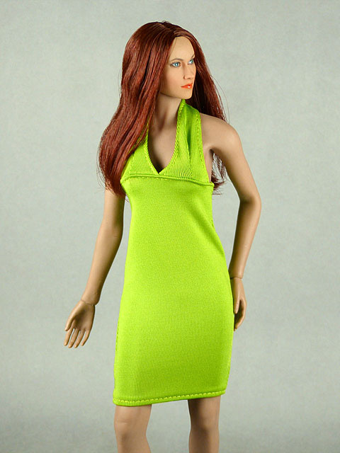 Vogue 1/6 Scale Female Green Neckstrap Fashion Dress Image 2
