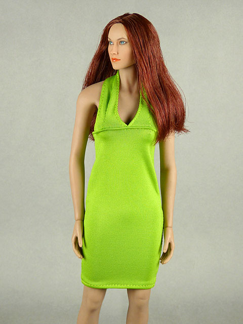 Vogue 1/6 Scale Female Green Neckstrap Fashion Dress Image 1