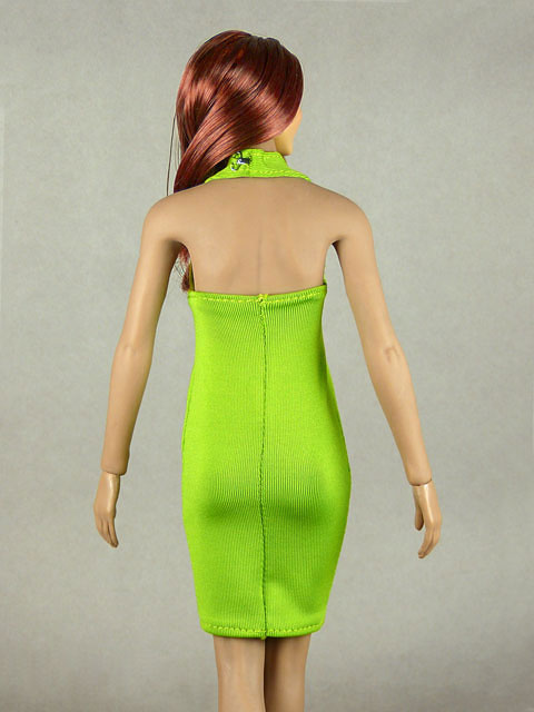 Vogue 1/6 Scale Female Green Neckstrap Fashion Dress Image 3