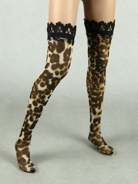 Vogue 1/6 Scale Female Leopard Pattern Fashion Stocking Image 3