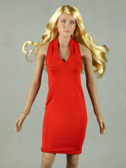 Vogue 1/6 Scale Female Red Neckstrap Fashion Dress