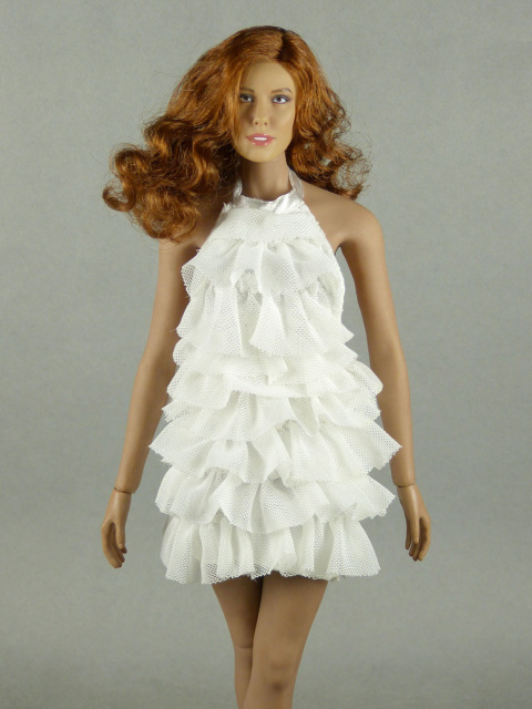 Vogue 1 6 Scale Female Fashion White Layered Lace Party Dress