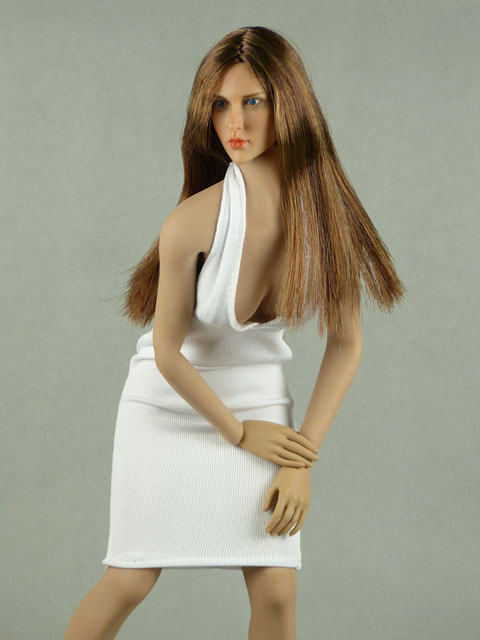 Vogue 1/6 Scale Female White Neckstrap Fashion Dress