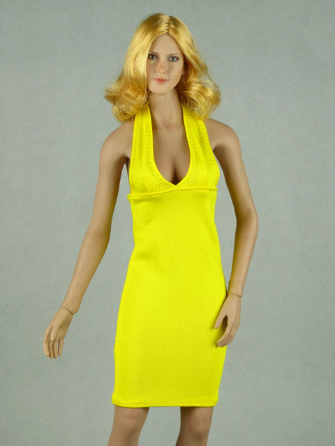 Vogue 1/6 Scale Female Yellow Neckstrap Fashion Dress