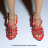 Red Straps Heel Shoes #1
