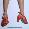 Red Straps Heel Shoes #2
