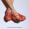 Red Straps Heel Shoes #4