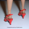Red Straps Heel Shoes #5