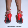 Red Straps Heel Shoes #6